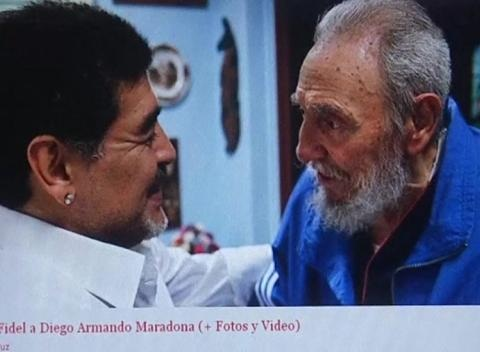 News video: Fidel Castro Praises Maradona World Cup Coverage