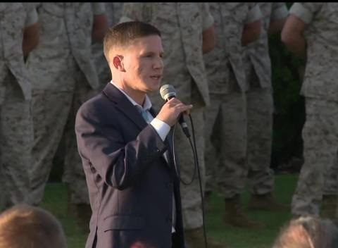 News video: Medal of Honor Recipient Has Powerful Words For Marines