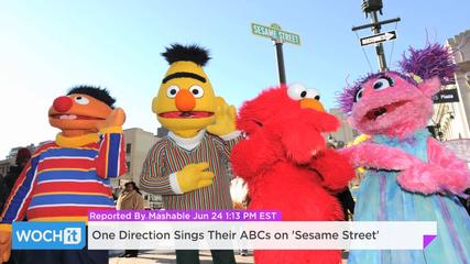 News video: One Direction Sings Their ABCs On 'Sesame Street'
